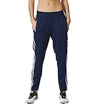 Adidas 3-Stripes Tapered Pants - lange Damen Fitnesshose, Blue