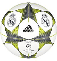 Adidas Finale 15 Real Madrid Capitano - Fußball, White/Lead/Bright Orange