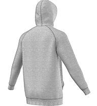Adidas Originals Hoodie Trefoil - felpa con cappuccio, Grey