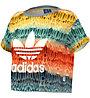 Adidas Menire Cropped Logo Tee Maglietta Donna, Multicolor