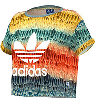 Adidas Menire Cropped Logo T-Shirt Damen, Multicolor