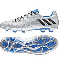 Adidas Messi 16.3 FG - Fußballschuhe, Silver/Blue