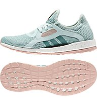 Adidas Pure Boost X - scarpe running donna, Ice Mint
