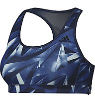 Adidas Rb Bra Print 2 Reggiseno Sportivo donna, Blue