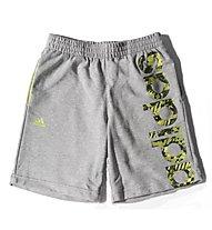 Adidas Recharged Knit Short Kinder, Medium Grey H./S.S.Yellow
