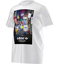 Adidas Originals Strett Photo Tee Herren T-Shirt Fitness Kurzarm, White