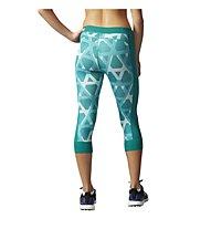 Adidas Techfit Printed Capri pantaloni corti fitness donna, Eqt Green/Print