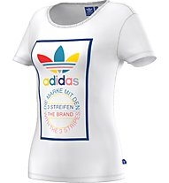 Adidas Tl Slim Tee Damen T-Shirt Fitness, White