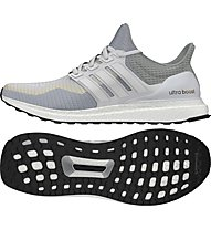 Adidas Ultra Boost scarpa running donna, White/Clear Grey
