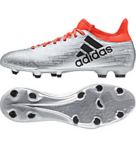 Adidas X 16.3 FG - scarpa da calcio, Silver/Red