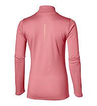 Asics Ess Winter 1/2 Zip langärmliges Damen-Runningshirt, Rose
