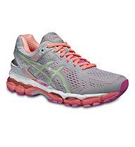 Asics GEL Kayano 22 - scarpa running donna, Silver Grey/Pistachio/Pink