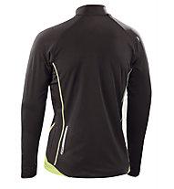 Asics Sweat Javier maglia a maniche lunghe running, Black/Light Green