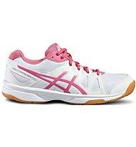 Asics Upcourt GS Scarpe da ginnastica bambina, White/Pink