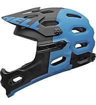 Bell Super 2R Mips All Mountain/Enduro/Freeride/DH Helm, matte black/blue aggression