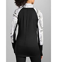 Brooks Threshold Long Sleeve W - maglia running donna, White/Black