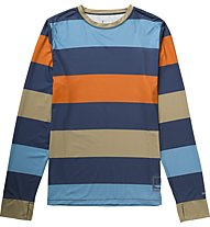 Burton Lightweight Crew Shirt Langarm, Team Blue Pop Stripe