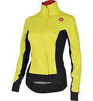 Castelli Alpha W Jacket WINDSTOPPER - giacca bici donna, Sulphur/Black