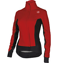 Castelli Alpha W Jacket WINDSTOPPER - giacca bici donna, Ruby Red/Black