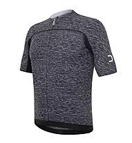 Dotout Race Wool.1 Jersey FZ Radtrikot, Melange Light Grey/Black