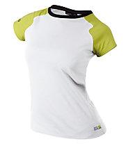 Edelrid Misery T-shirt arrampicata donna, Chute Green