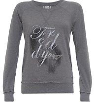 Freddy Flower Core Tsw Felpa fitness donna, Grey
