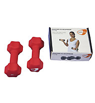 Get Fit Neoprene Dumbbell pesi, Red
