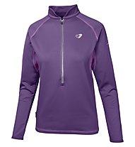 Get Fit Woman Polar Fleece Runningshirt Langarm Damen, Grape
