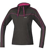 GORE RUNNING WEAR Essential Lady Hoody Kapuzenshirt Damen, Black/Violet