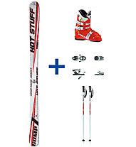 Hot Stuff Comp 7 JR Set: Ski+Bindung+Skischuhe+Skistock