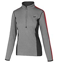 Hot Stuff Maglia sci Layer Solid Woman, Grey/Red