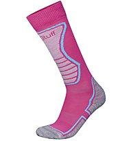 Hot Stuff Ski Basic Kids 2pack Calze da sci Bambini, Light Grey/Pink