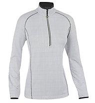 Hot Stuff Ski Shirt Stretch HS Damen-Langarmshirt für Ski Alpin, Grey/White