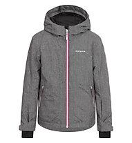 Icepeak Haley Kinder-Skijacke für Mädchen, Grey/Pink