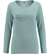 Kaikkialla Maila T-Shirt Damenshirt Langarm, Light Blue
