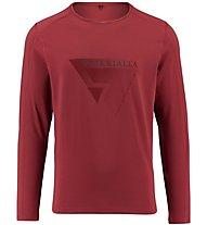 Kaikkialla Matias T-shirt Maglia a maniche lunghe trekking, Red