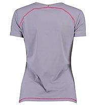 Kaikkialla Tea T-shirt Trail running donna, Platin
