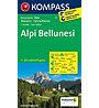 Kompass Karte Nr. 77 Alpi Bellunesi, 1: 50.000