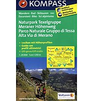 Kompass Carta Nr. 043 Parco Naturale Gruppo di Tessa Alta Via Merano, 1:25.000