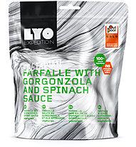 Lyo Food Farfalle mit Gorgonzola und Spinatsauce, Main meal