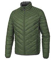 Meru Gander Man Light Down Jacket Giacca in piuma, Dark Green/Dark Grey