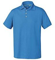 Meru Herren Basic Polo Shirt, Blue