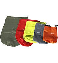 Meru Stuff Sack Round Set 5, Olive/Red/Yellow/Graphite/Orange
