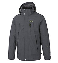 Meru Vättern III giacca con cappuccio doppia trekking, Black