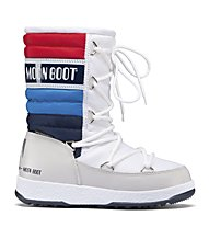 Moon Boot WE Quilted Jr - Moon Boot, White/Blue/Red