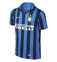 Nike 2015 Inter Milan Stadium Home - T-shirt da calcio bambino, Black/R. Blue/F. White