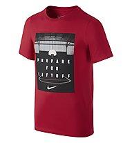 Nike CTN Prepare For Liftoff T-Shirt YTH, University Red/Black