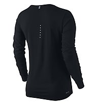 Nike Dri-FIT Contour Long Sleeve maglia running donna, Black/Reflective Silver