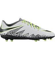 Nike Hypervenom Phelon II FG - scarpa da calcio terreni compatti, White/Silver