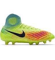 Nike Magista Obra II FG - scarpe da calcio terreni compatti, Volt/Black